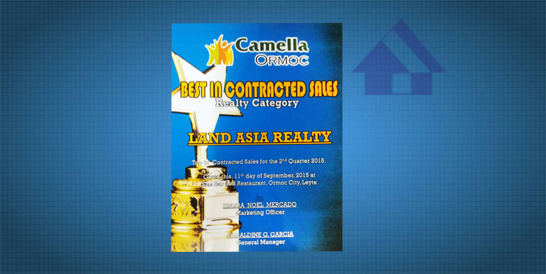Best in Contracted Sales (Realty Category).